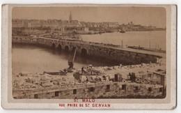 CDV Photo Originale XIXème Saint MALO Travaux Vu De St Servan Par Ordinaire Dinard Cdv 2576 - Foto's