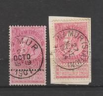 COB 58 Oblitéré NAMUR + NAMUR (Station) - 1893-1900 Schmaler Bart