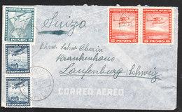 CHILI Lettre De  ....ANCO......via LAUFENBERG En Suisse Poste Aerienne - Chili