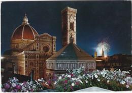 E1270 FIRENZE - CATTEDRALE - BATTISTERO (NOTTURNO) - Firenze