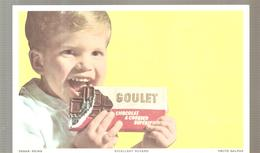 Buvard GOULET CHOCOLAT A CROQUER SUPERIEUR - Cocoa & Chocolat