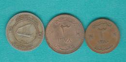 Muscat & Oman - Sa'id Bin Taimur - 3 Baisa - AH1378 (1959 - KM30); AH1380 (1961 - KM32) & 5 Baisa - AH1381 (1962 - KM33) - Oman