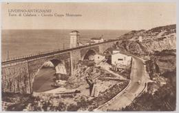 POSTCARD ITALIA 1937, BRIDGE  ,LIVORNO ANTIGNANO, TORRE DI CALAFURIA,CIRCUITO COPPA MONTENERO - Livorno