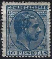 Espagne Alphonse XII N°182 * 10 Pesetas Tres Fais Signé Calves - Nuevos