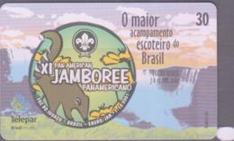 SCOUTS - BRAZIL -  2001- SCOUT JAMBOREE PHONECARD /DIFFERENT DESIGN  30 UNITS UNUSED - Brazil