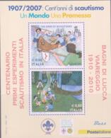 SCOUTS -  ITALY - 2007 - EUROPA /SCOUTS 1910-2010 OVERPRINT MINT NEVER HINGED - Scouting