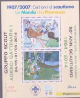 SCOUTS -  ITALY - 2007 - EUROPA /SCOUTS 1964-2014 OVERPRINT MINT NEVER HINGED - Scouting