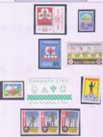 SCOUTS -  DENMARK - SELECTION OF LABELS + SCOUTS BOOKLET COMPLETE MINT - Scouting