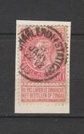 COB 58 Oblitéré CHARLEROI (Station) - 1893-1900 Schmaler Bart