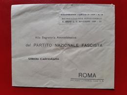 PARTITO NAZIONALE FASCISTA - Roma - PALAZZO LITTORIO - CALENDARIO FASCISTA 1931 - 1900-44 Vittorio Emanuele III