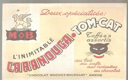 Buvard CHOCOLAT MAGNIEZ-BAUSSART à Amiens L'inimitable CARANOUGA TOM-CAT - Chocolat