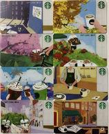2018 China Starbucks Coffee Language Gift Cards ¥100 8pcs - China