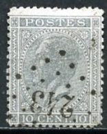 BE   17c  Obl   ---   Nuance  -  LP 243  Menen - Menin - 1865-1866 Linksprofil