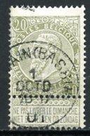 BE   59   Obl   ---    Belle Oblitération : LOUVAIN BASSIN - 1893-1900 Schmaler Bart