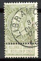 BE   59a  Obl  ----  Nuance ---  Cachet LIBRAMONT - 1893-1900 Schmaler Bart