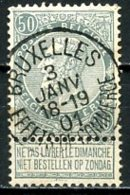 BE   63  Obl  ----  Bruxelles - 1893-1900 Schmaler Bart