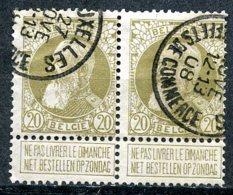 BE   75   Obl  ----   Paire BRUXELLES (EFFETS DE COMMERCE) - 1905 Grosse Barbe