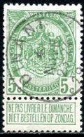 BE   83  Obl   -----    Cachet Dinant - 1893-1907 Armoiries