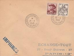 OBLIT. TEMPORAIRE FNCPG - FÉDÉRATION NATIONALE COMBATTANTS PRISONNIERS De GUERRE - PARIS 4/49 - Bolli Commemorativi