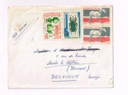 Lettre De Bamako à Merbes-le-Château (Belgique) - Mali (1959-...)