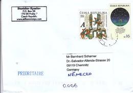 Tschechien 2018, Brief Aus Tschechien, Gelaufen  / Czech Republic 2018. Cover, Postally Used - Tchéquie