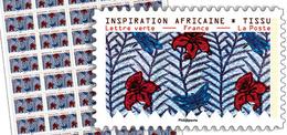 France 2019 -  Inspiration Africaine - Tissu (ADHESIF PRO) ** - France