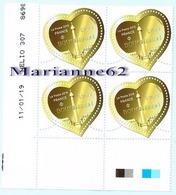 """France 2019 TP X4 Coin Daté """" Coeur De Boucheron """" 11.01.19 MNH - Neuf - Coins Datés"""