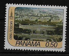PANAMA    N °  621  * *  ( Cote 2.50e ) Jo 1980 Stade - Ete 1980: Moscou