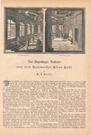 170 Augsburg Rathaus Elias Holl 1 Artikel Mit 11 Bildern Von 1890 !! - Historische Dokumente