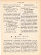 171 Deutscher Reichstag 1 Artikel Mit 15 Bildern Von 1893 !! - Historische Dokumente