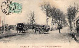 Ussel - 19 - Avenue De La Gare Et Route De Clermont -RARE - PLAN 1906 - TBE - Ussel