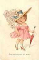 """""""Comic Girl. I'm Smarter Than My Mother"""" Nice Humorous Postard 1920s - Tarjetas Humorísticas"""