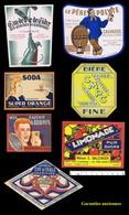 7 ÉTIQUETTES Anciennes De Boissons Françaises Diverses - Etiquettes