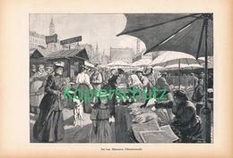 174 Marktleben In München Viktualienmarkt 1 Artikel Mit 9 Bildern Von 1894 !! - Historische Dokumente