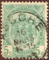"""COB   56  (o) Oblitération """"Assche""""  T1L - 1893-1907 Armoiries"""