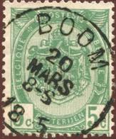 "COB   56  (o) Oblitération ""Boom"" T0 - 1893-1907 Armoiries"