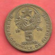 5 Ouguiya , MAURITANIE , Cupro-Nickel-Aluminium , 1974 , N° KM # 3 - Mauritania