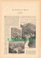 177 Bad Gastein Böckstein 1 Artikel Mit 22 Bildern Von 1886 !! - Historische Dokumente