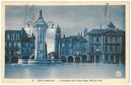 CPA PONT A MOUSSON - La Fontaine De La Place Duroc ( Effet De Nuit ) - Pont A Mousson