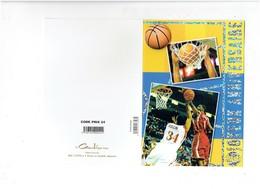 Double Grande Cpm - Sport Basket-ball - Joueur SULLIN N°34 - JONES N°1 - Panier AJOUTIS Ballon THE ROCK - Anniversaire - Basket-ball