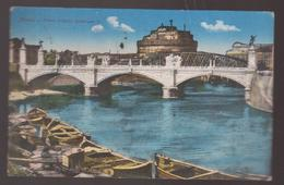 POSTCARD ITALIA 1918, BRIDGE, ROMA, PONTE VITTORIO EMANUELE II - Ponts