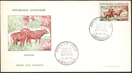 GABON Lettre 1ER JOUR De LIBREVILLE 15 JUILLET 1964 (buffles) - Gabon (1960-...)
