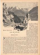 181 Schweiz Luzern Gießbach Meiringen Sarnen 1 Artikel Mit 19 Bildern Von 1890 !! - Zeitungen & Zeitschriften