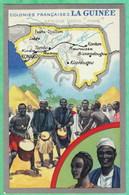 """COLONIES FRANCAISES - LA GUINEE - PUBLICITE """"LION NOIR"""" - 2 SCANS - French Guinea"""