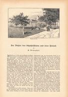 182 Basel Hebel Hebelgesellschaft Hebelstiftung 1 Artikel Mit 6 Bildern Von 1887 !! - Historische Dokumente