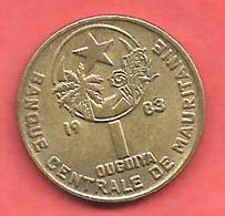 1 Ouguiya , MAURITANIE , Cupro-Nickel-Aluminium , 1983 , N° KM # 6 - Mauritanie