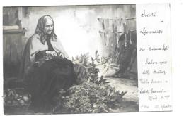 STE LYONNAISE DES BEAUX ARTS SALON 1910 VIEILLE FEMME DE ST JEANNET ALPES MARITIMES - Malerei & Gemälde