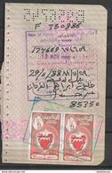 USED PASSPORT PAGE BAHRAIN VISA STAMPS - Bahreïn (1965-...)