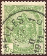 """COB   56  (o) Oblitération """"Bruxelles 1 C""""   T4R - 1893-1907 Armoiries"""