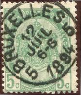 "COB   56  (o) Oblitération ""Bruxelles 5 ""   T0 - 1893-1907 Armoiries"